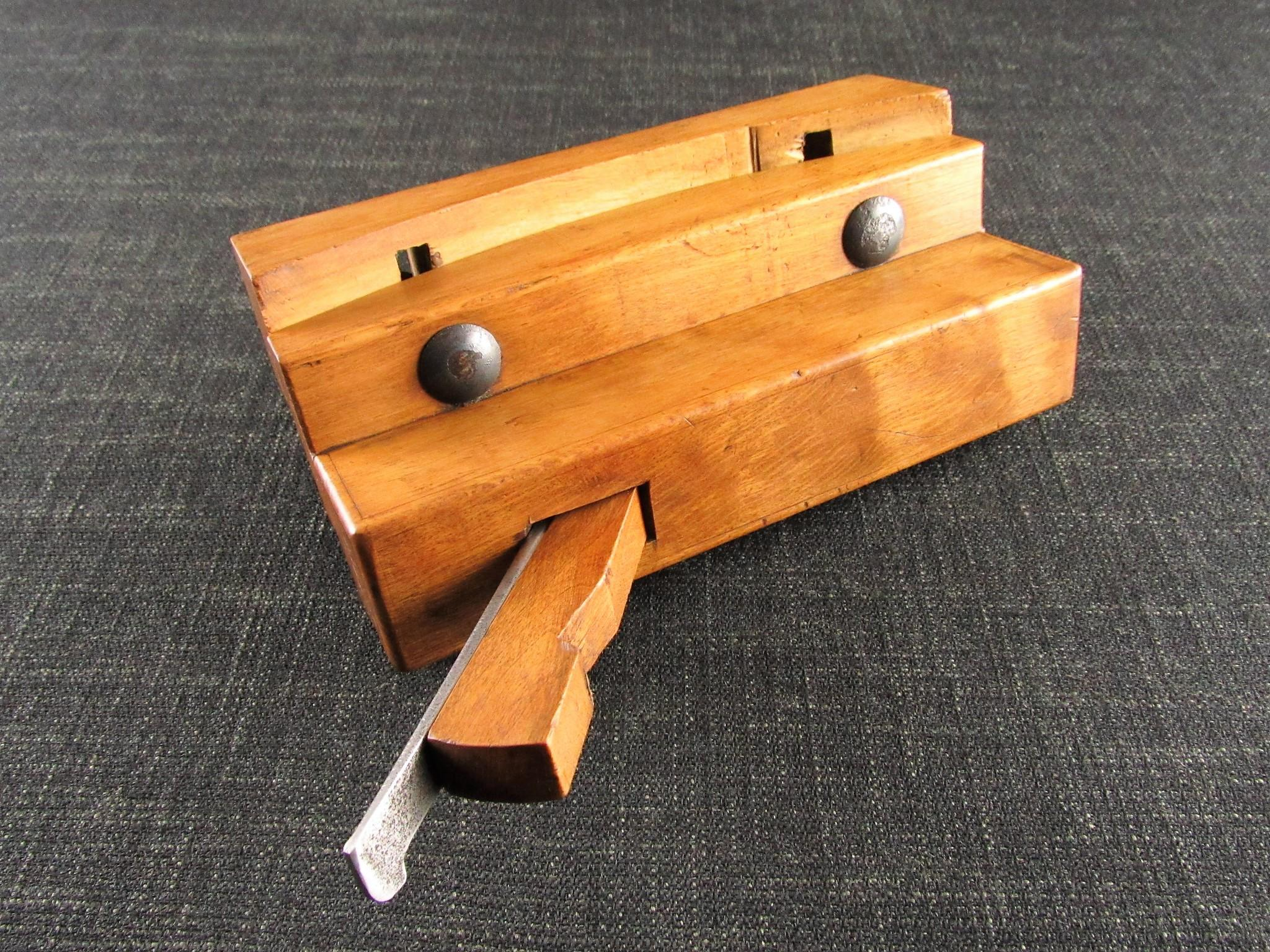Unusual Wooden Compass Plough Plane by C JACOB of Strassburg