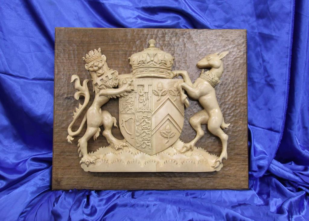 Woodcarving – Royal Coat of Arms