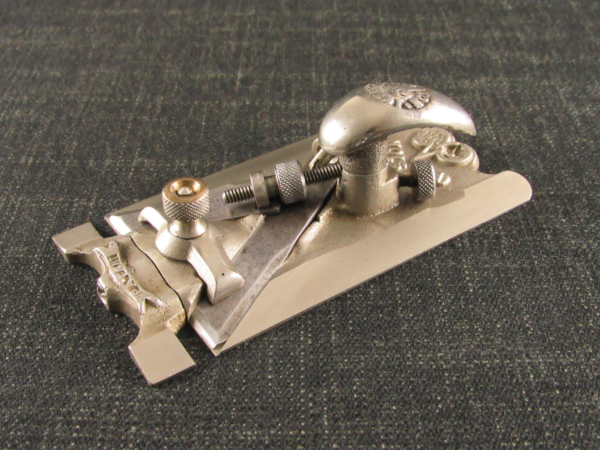 PRESTON No.1369 Patent Adjustable Side Rebate Plane