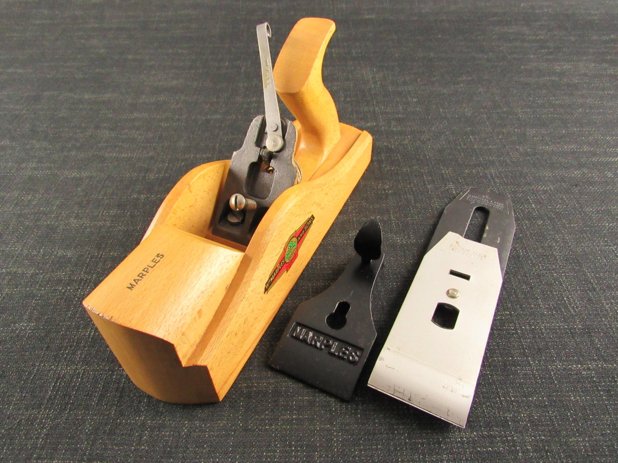 MARPLES 2690 Beechwood Adjustable Smoothing Plane - MARPLES Transitional Plane