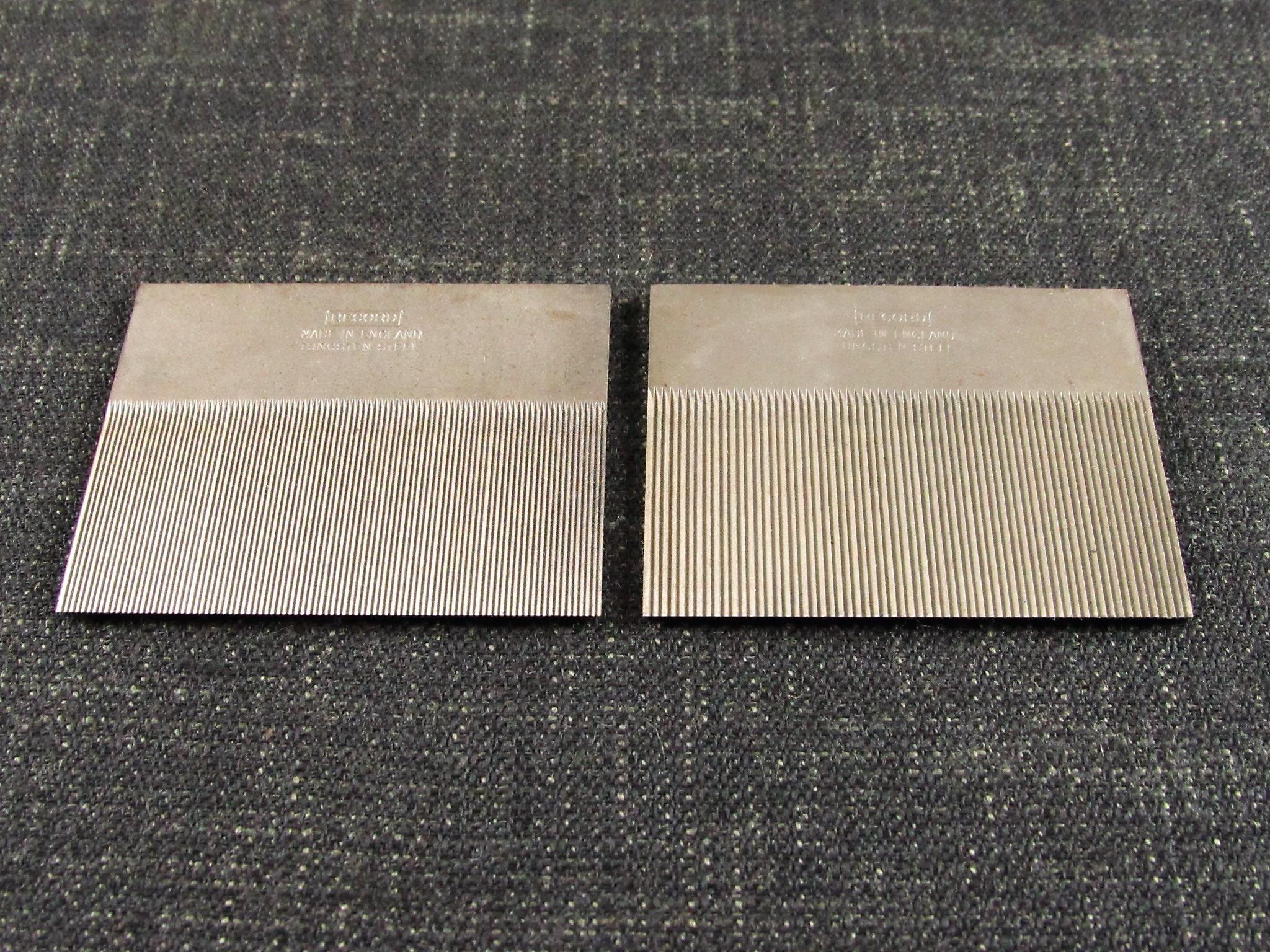 Very Rare Pair of Toothing Cutters for the RECORD 080 Cabinet Scraper - Unused