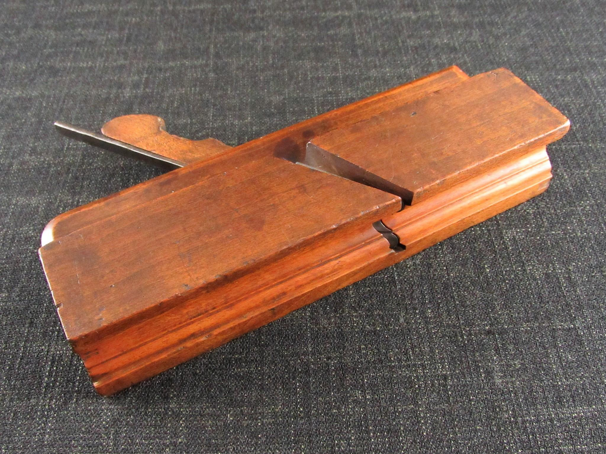 A Rare Complex Profile Moulding Plane by BUCK - Astragal & Hollow Single Iron Sash Plane