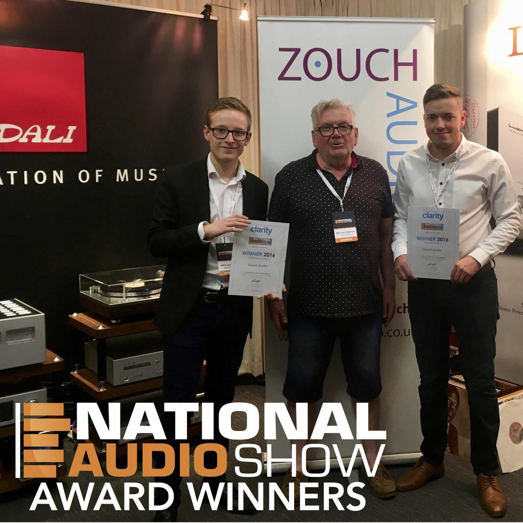 Zouch Audio win 2 awards at the National Audio Show