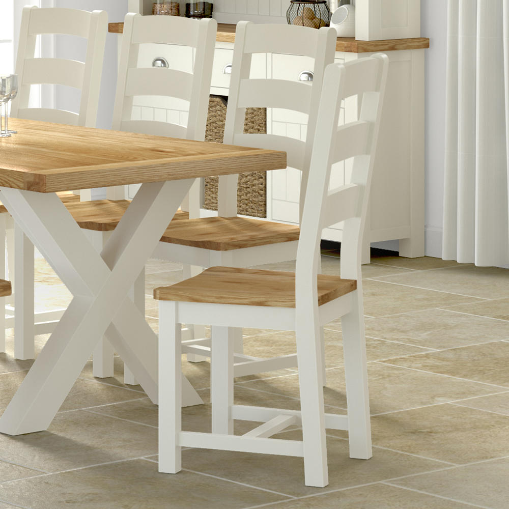 buy oak painted leather fabric dining chairs at furniture octopus
