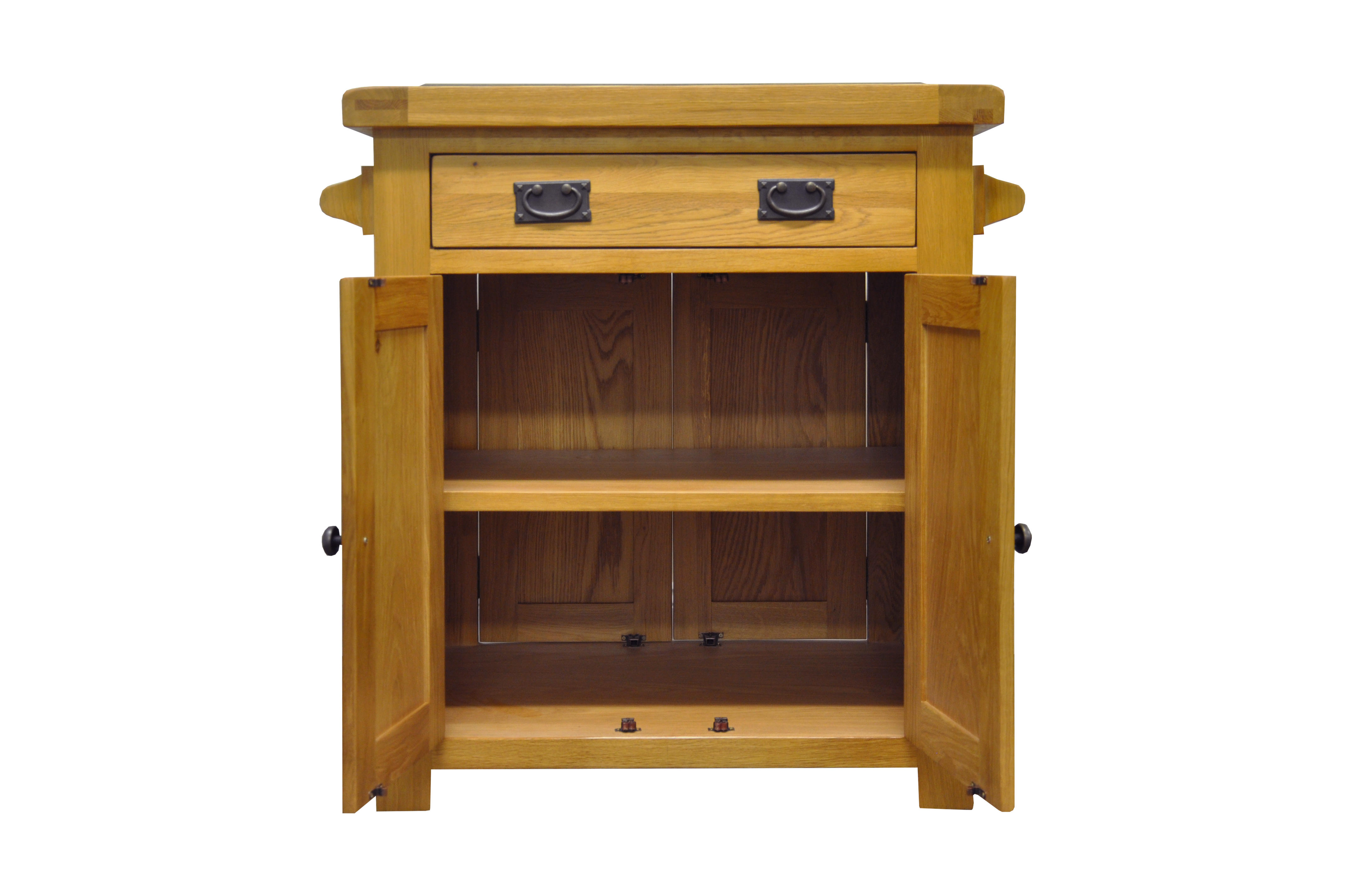 Buy the Kingsford Chunky Oak Small Kitchen Island at Furniture Octopus