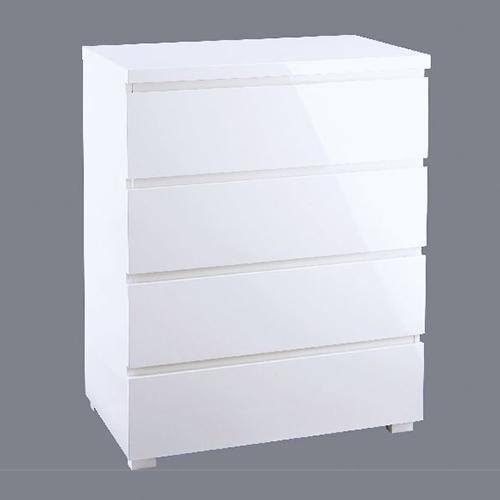 Buy The Alana White High Gloss 4 Drawer Chest At Furniture Octopus