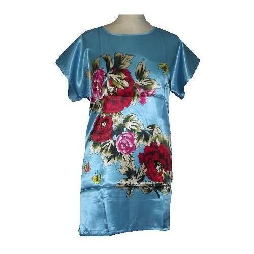 8d9ab20174 Chinese style nightgowns decorated with red and pink peony flowers