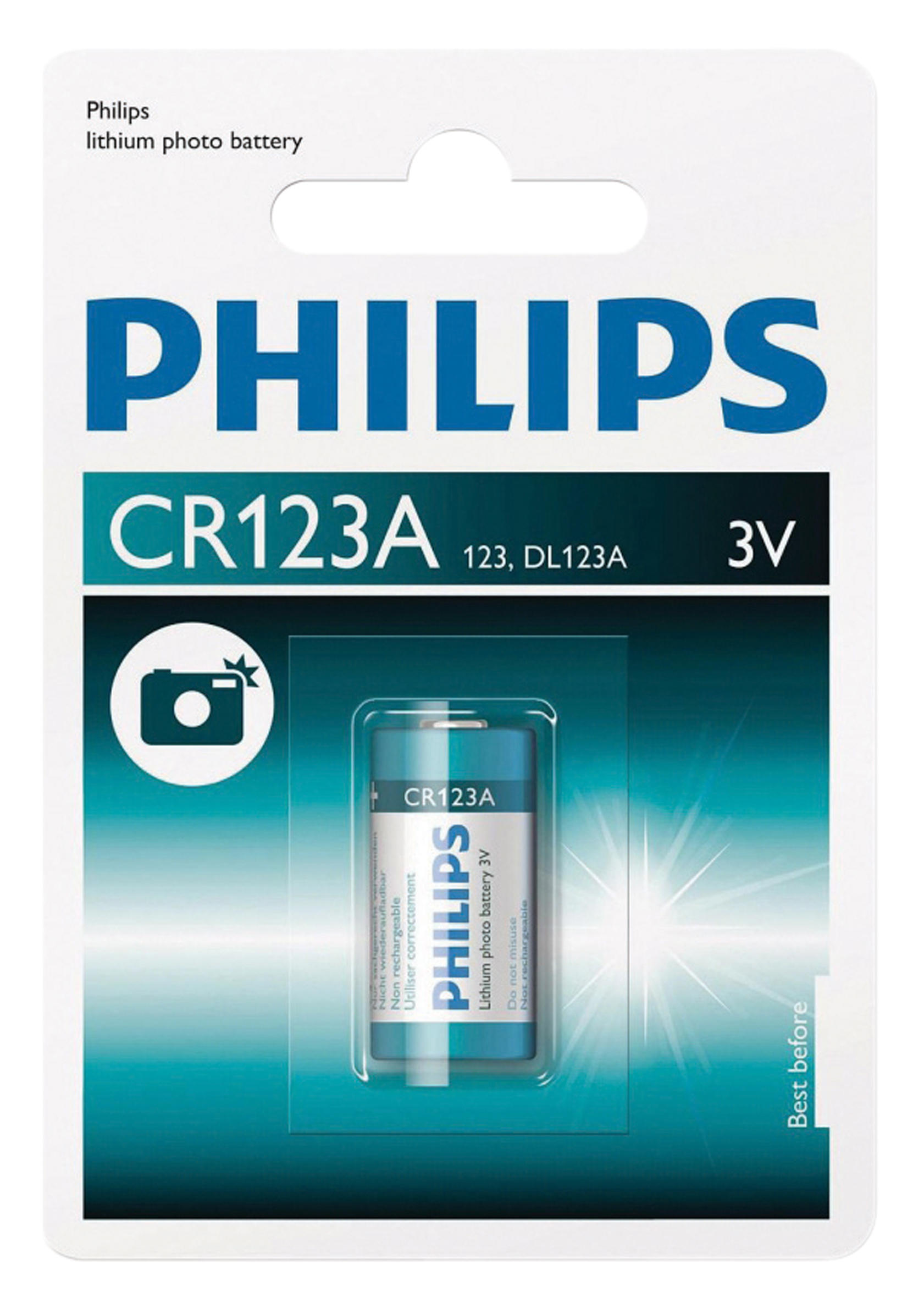 Battery Phillips Extreme Life Lithium Cr123a