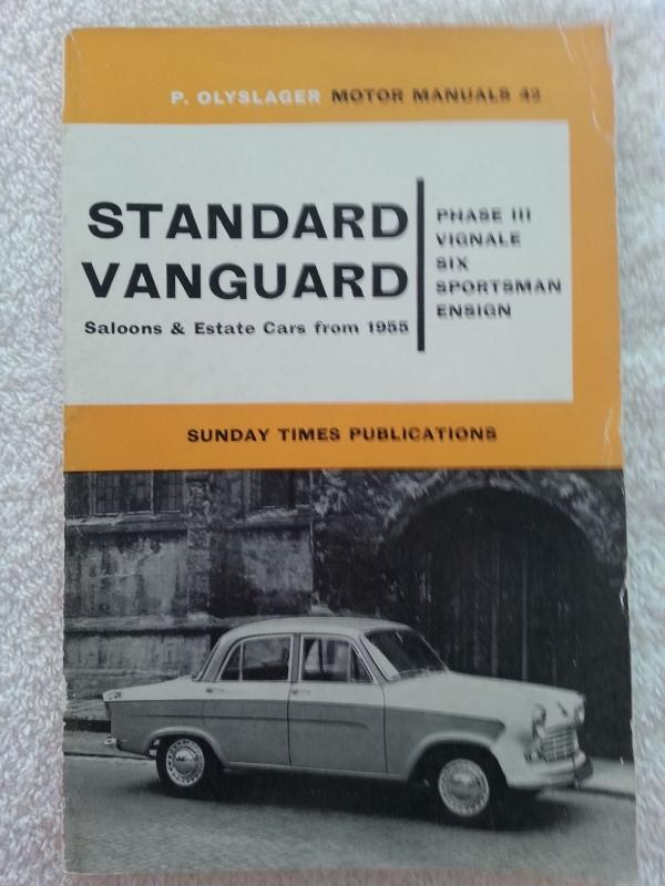 Manuals for the Standard Vanguard