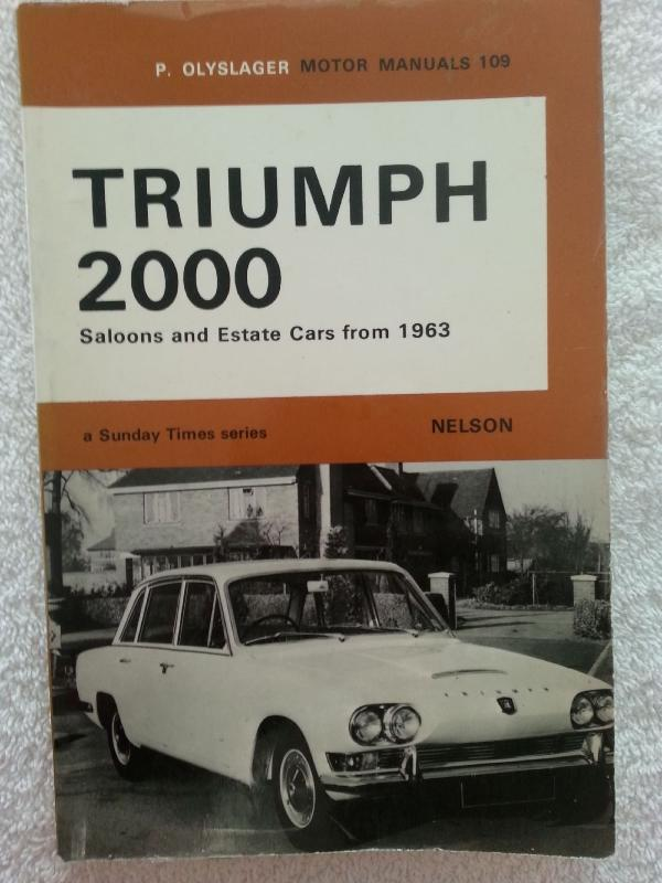 Workshop Manuals for Triumph 2000