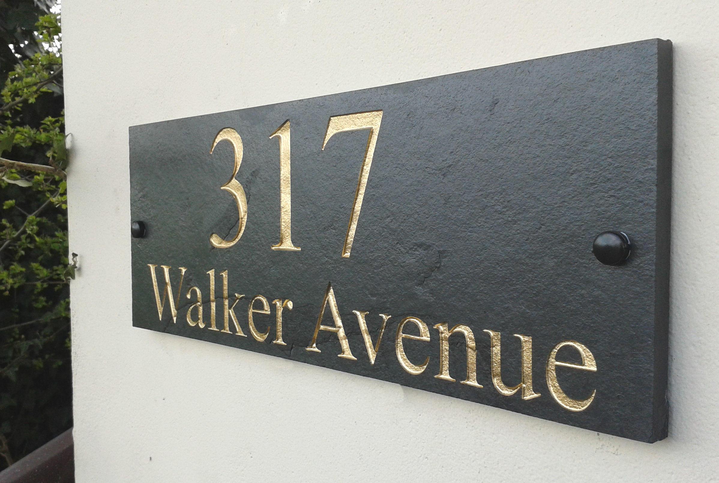 House Name Deep Engraved 40cm x 15cm 1da43874c016