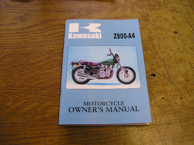 OWNERS MANUAL  Z900A4 1976