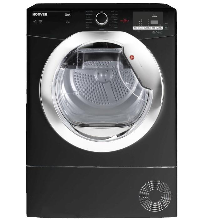 Hoover 9kg Load Hlc9dceb Condenser Tumble Dryer Black