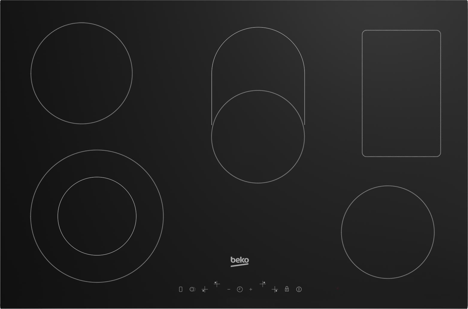 Beko Hic85402t Electric Hob With Touch Control Black