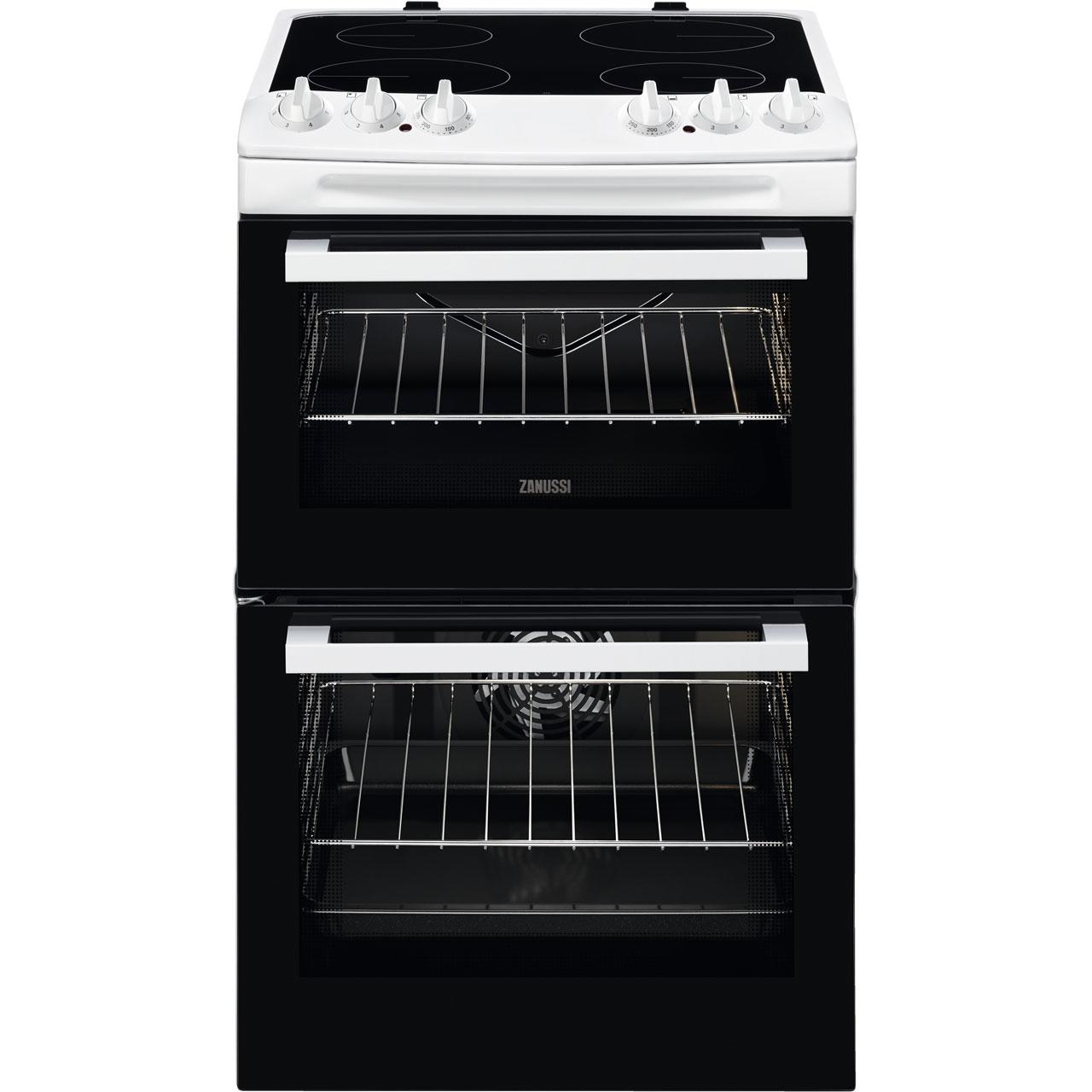 Zanussi Zcv46050wa Electric Cooker With Ceramic Hob