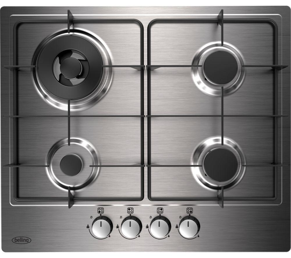 Belling Ghu602gcsta Gas Hob Stainless Steel