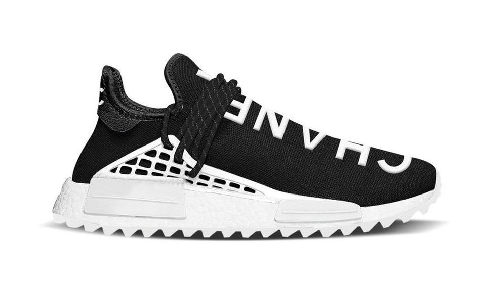 the best attitude 26355 4c9b3 Pharrell Williams x Chanel x adidas NMD Human Race Black