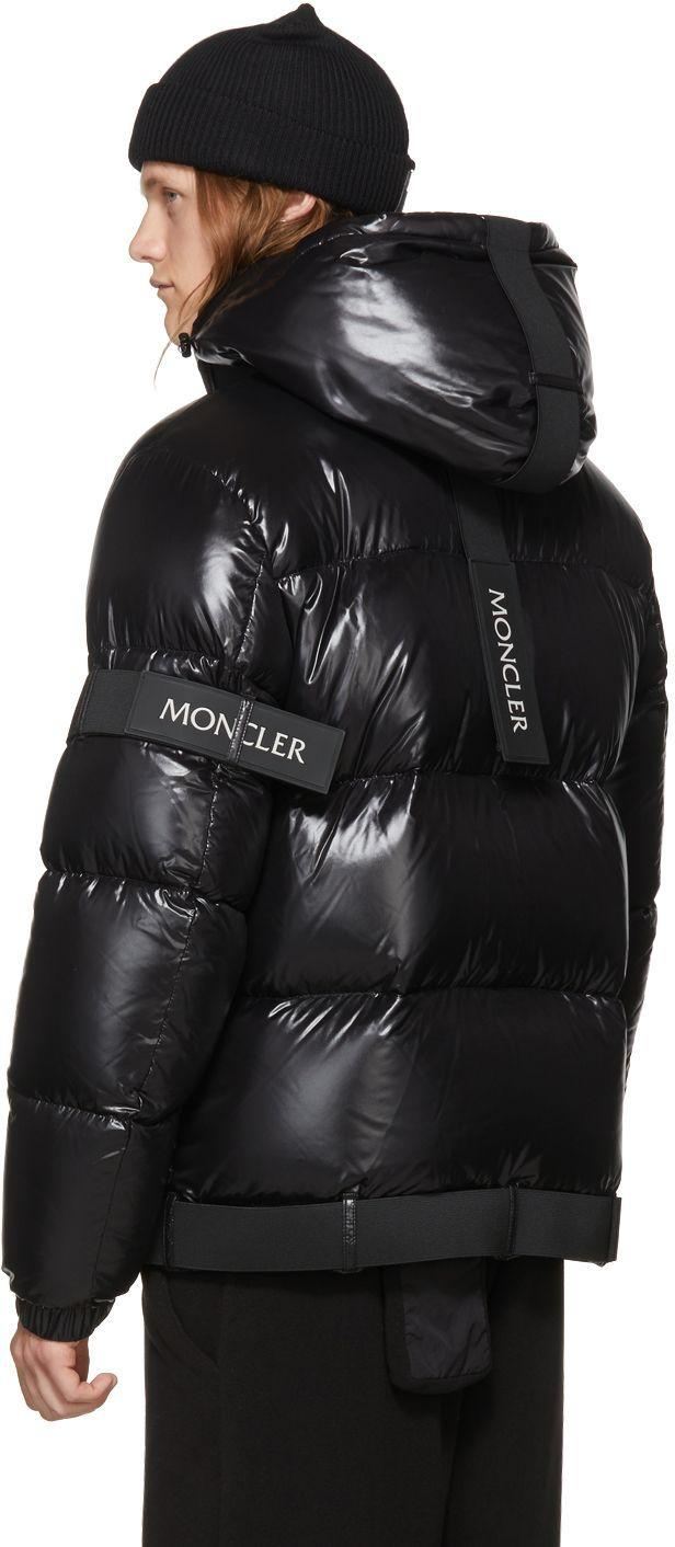 1362800bd94 Moncler Black X Craig  brook  Buckle Strap Down Puffer Jacket