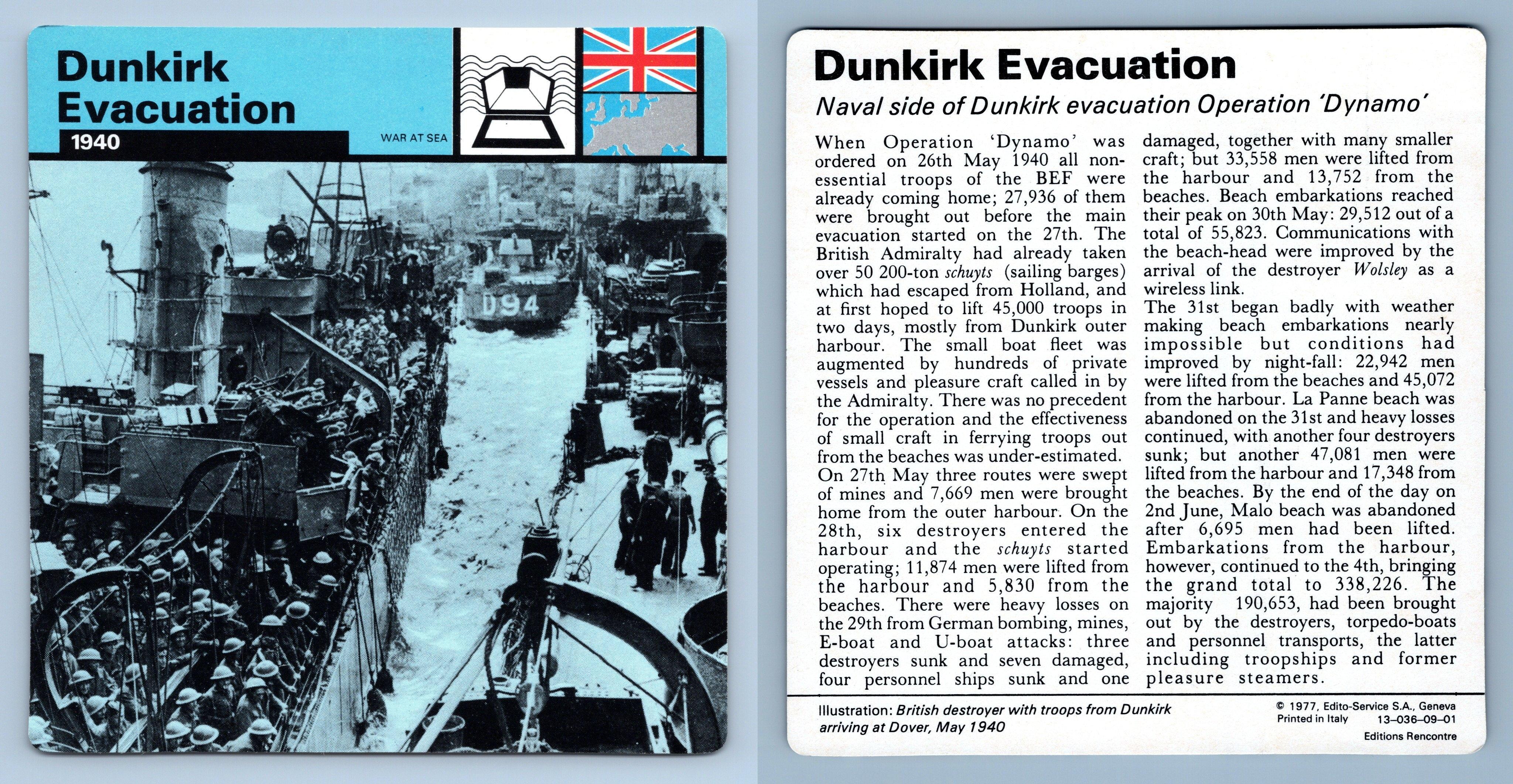 II 1941-45 War At Sea WW2 Edito-Service SA 1977 Card US Plans Pacific War
