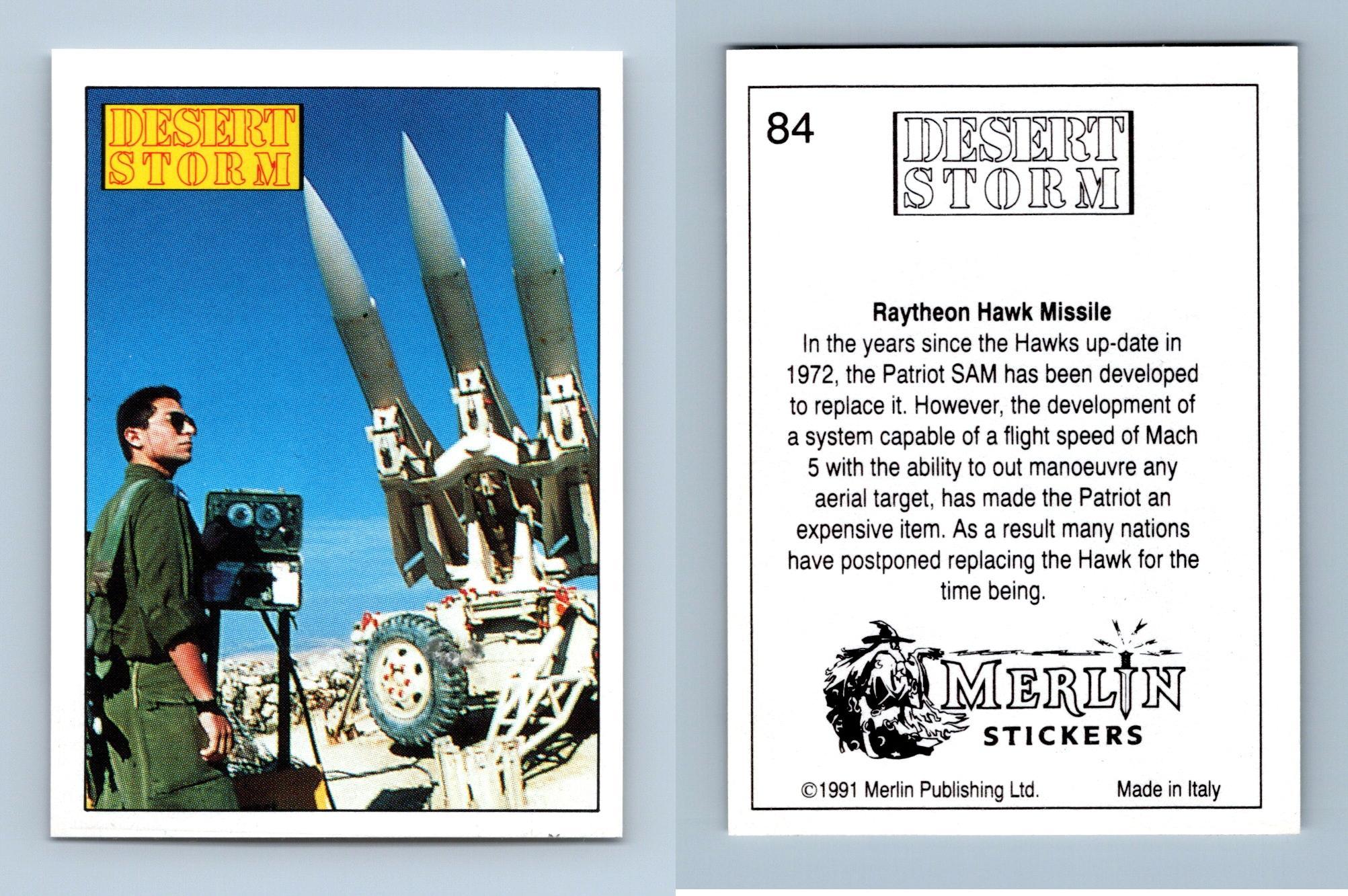 Raytheon Hawk Missile #79 Desert Storm 1991 Merlin Sticker