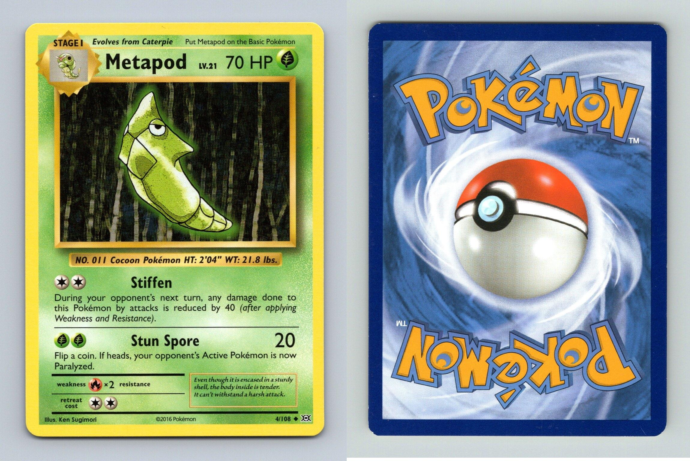 3//108 Pokemon: Caterpie XY Evolutions Common