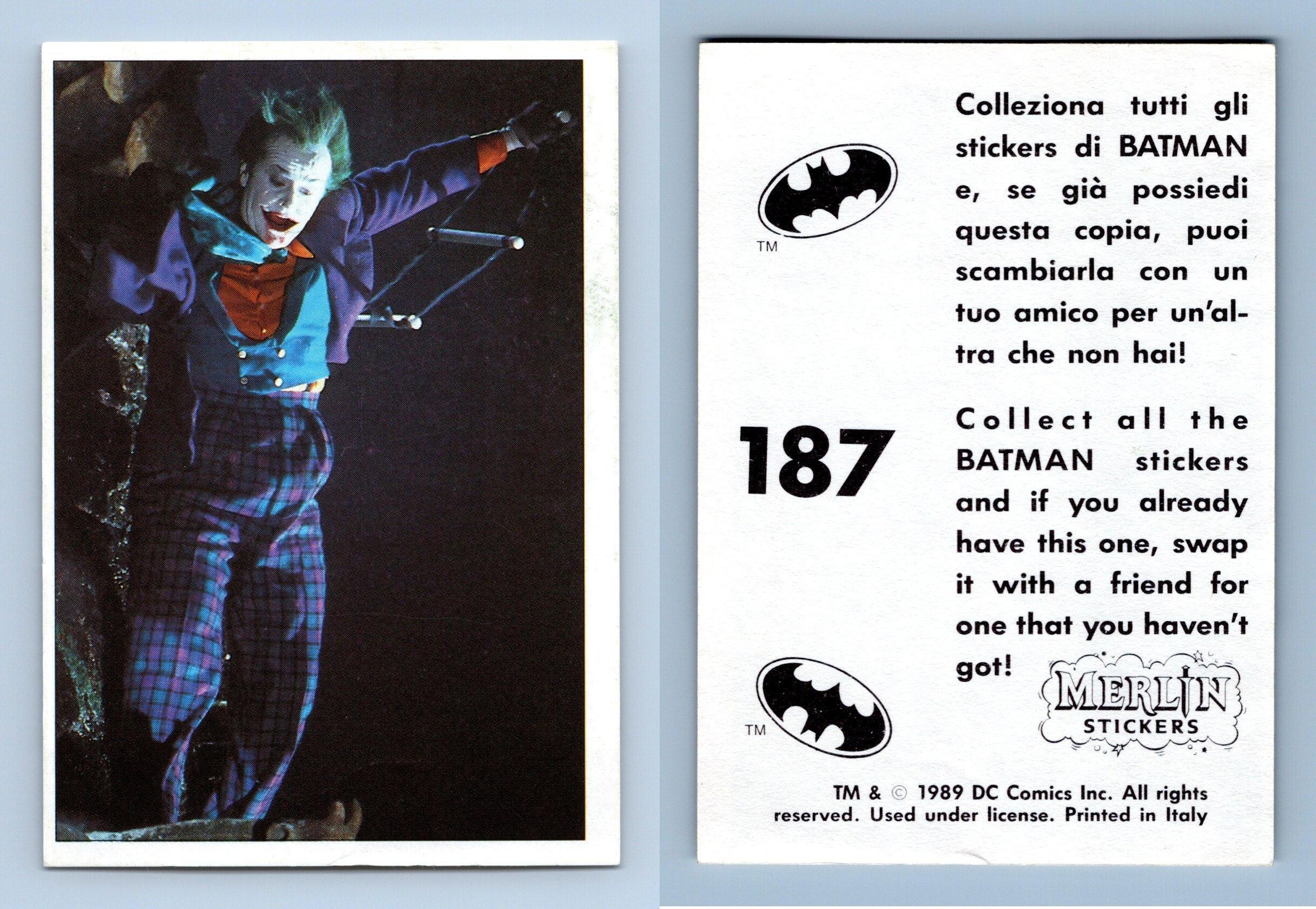 Batman Movie #209 Merlin 1989 Sticker