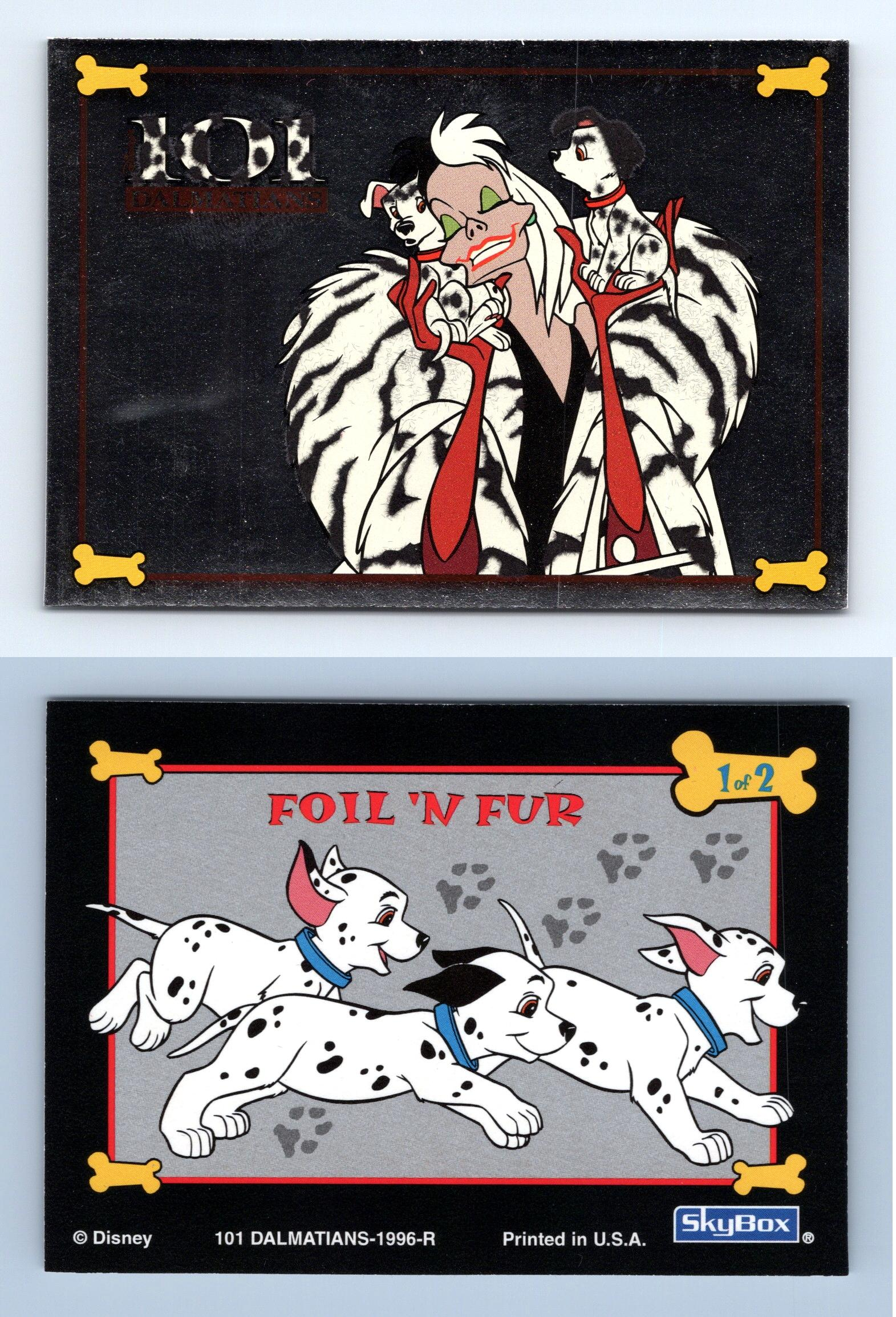 Foil N Fur 1 Of 2 Disney 101 Dalmatians 1996 Skybox Trading Card