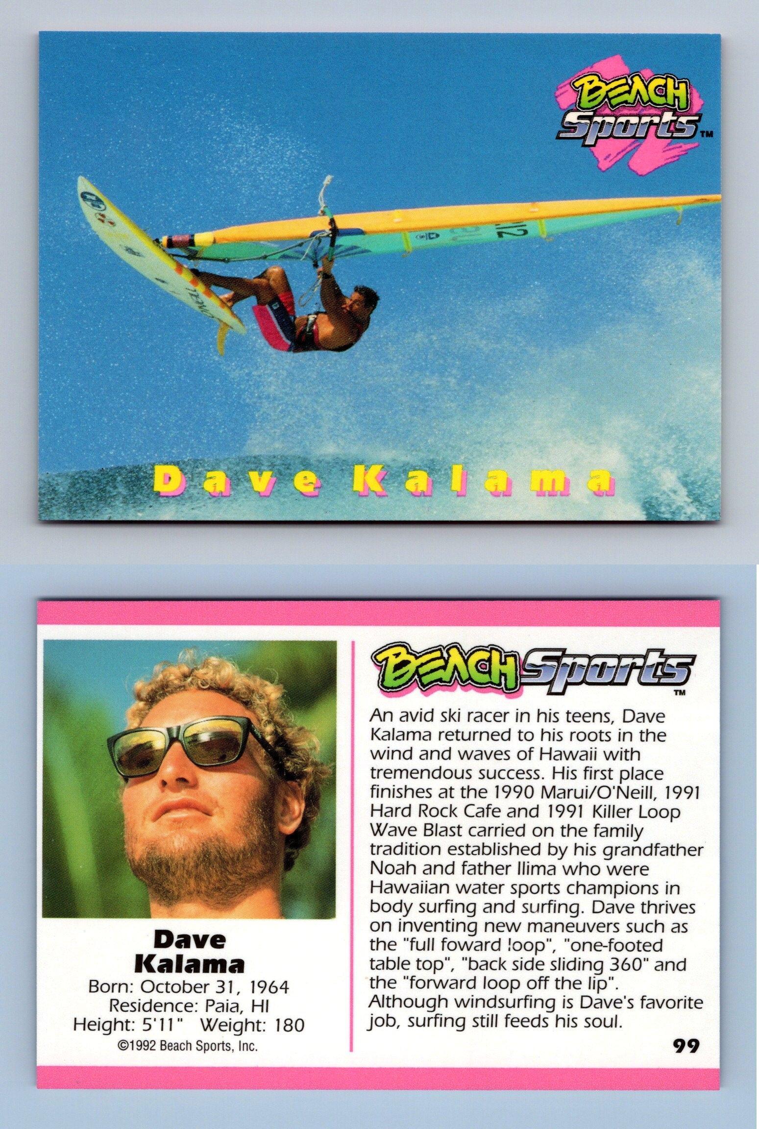 Checklist #100 Beach Sports 1992 Trading Card