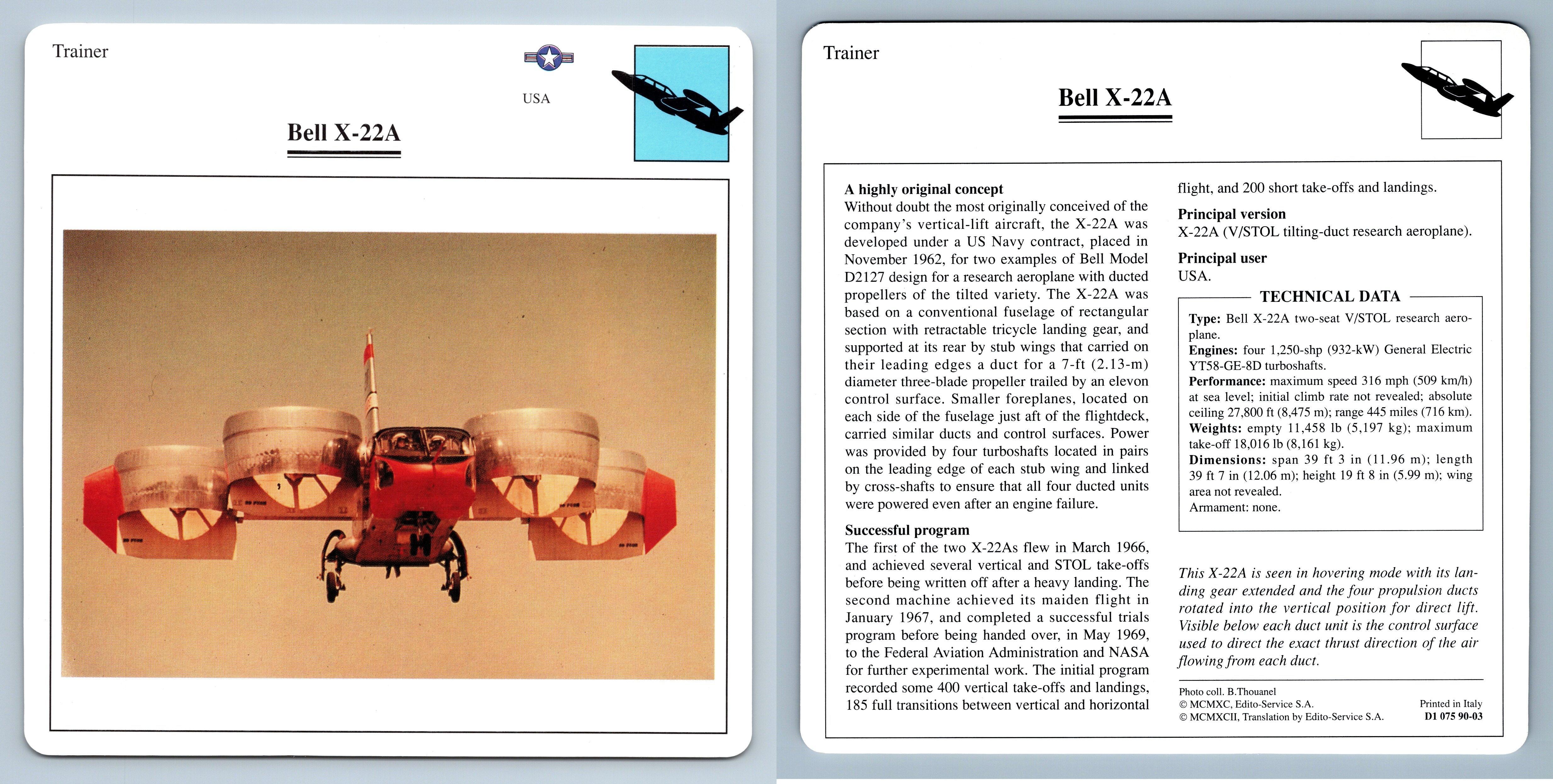 Warplanes Collectors Club Card Arado Ar 79 Trainer