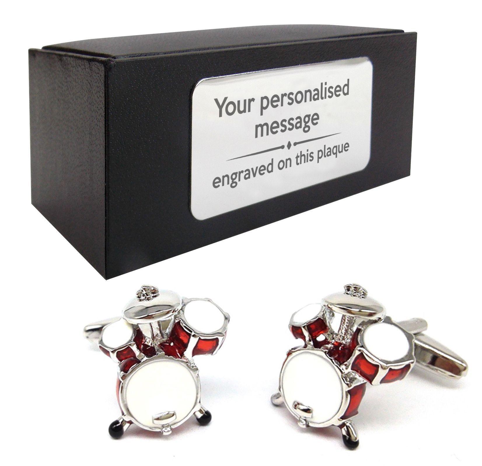 Drum music drum kit novelty cufflinks
