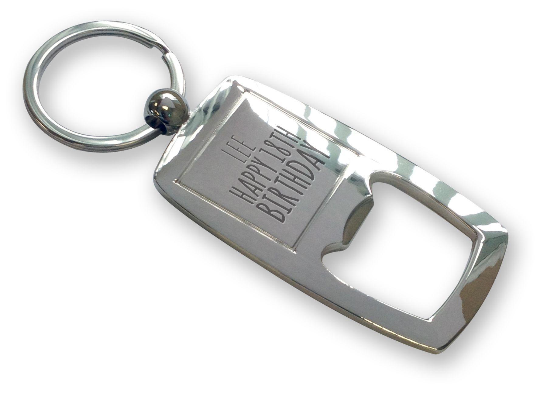Personalised Engraved Bottle Opener Keyring//Keychain Christmas Birthday Gifts
