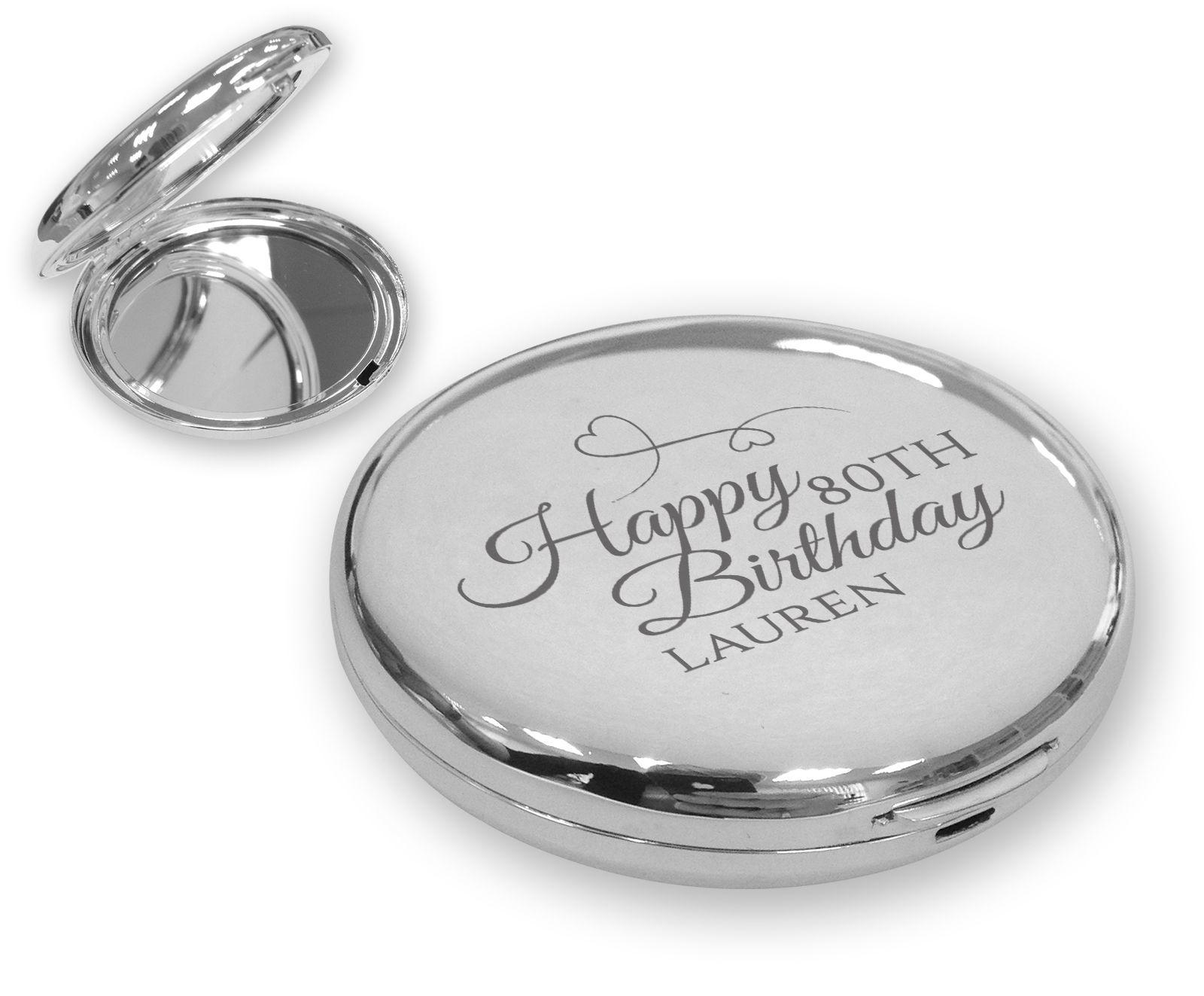 80TH BIRTHDAY compact mirror gift idea