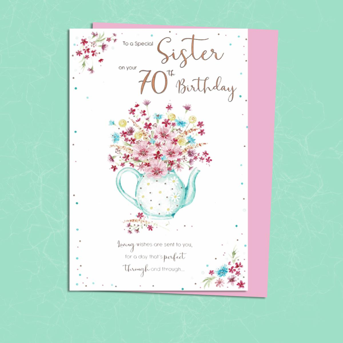 Special Sister On Your 70th Birthday Card