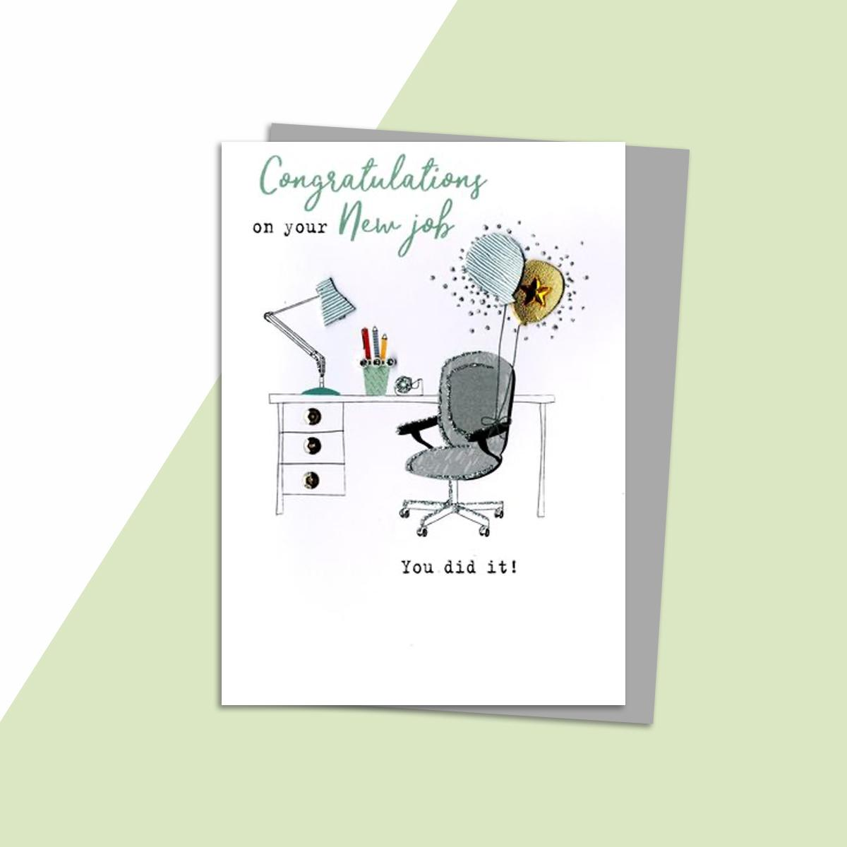 congratulations on your new job greeting card
