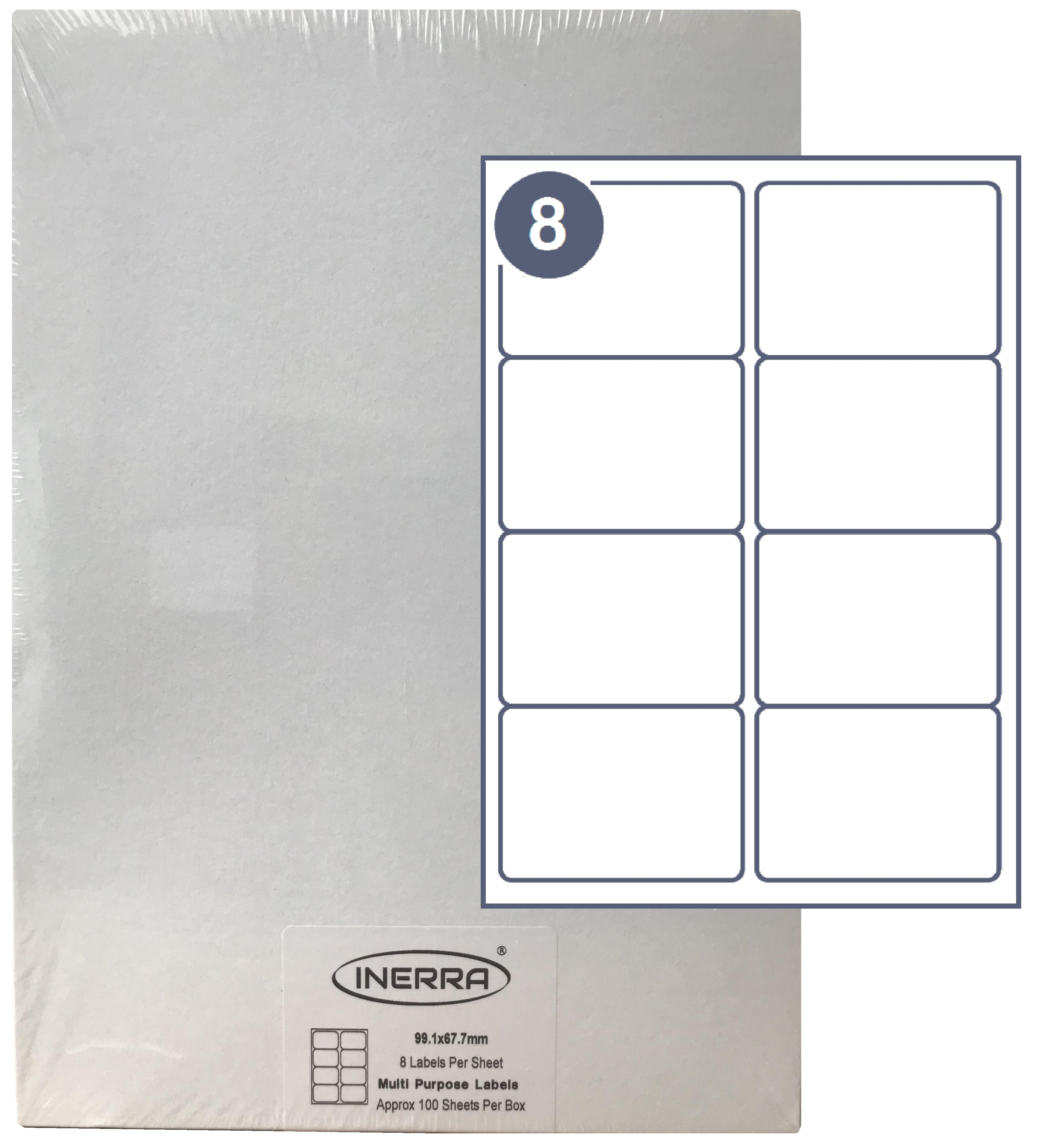 Free Template for INERRA Blank Labels - 21 Per Sheet For Word Label Template 12 Per Sheet