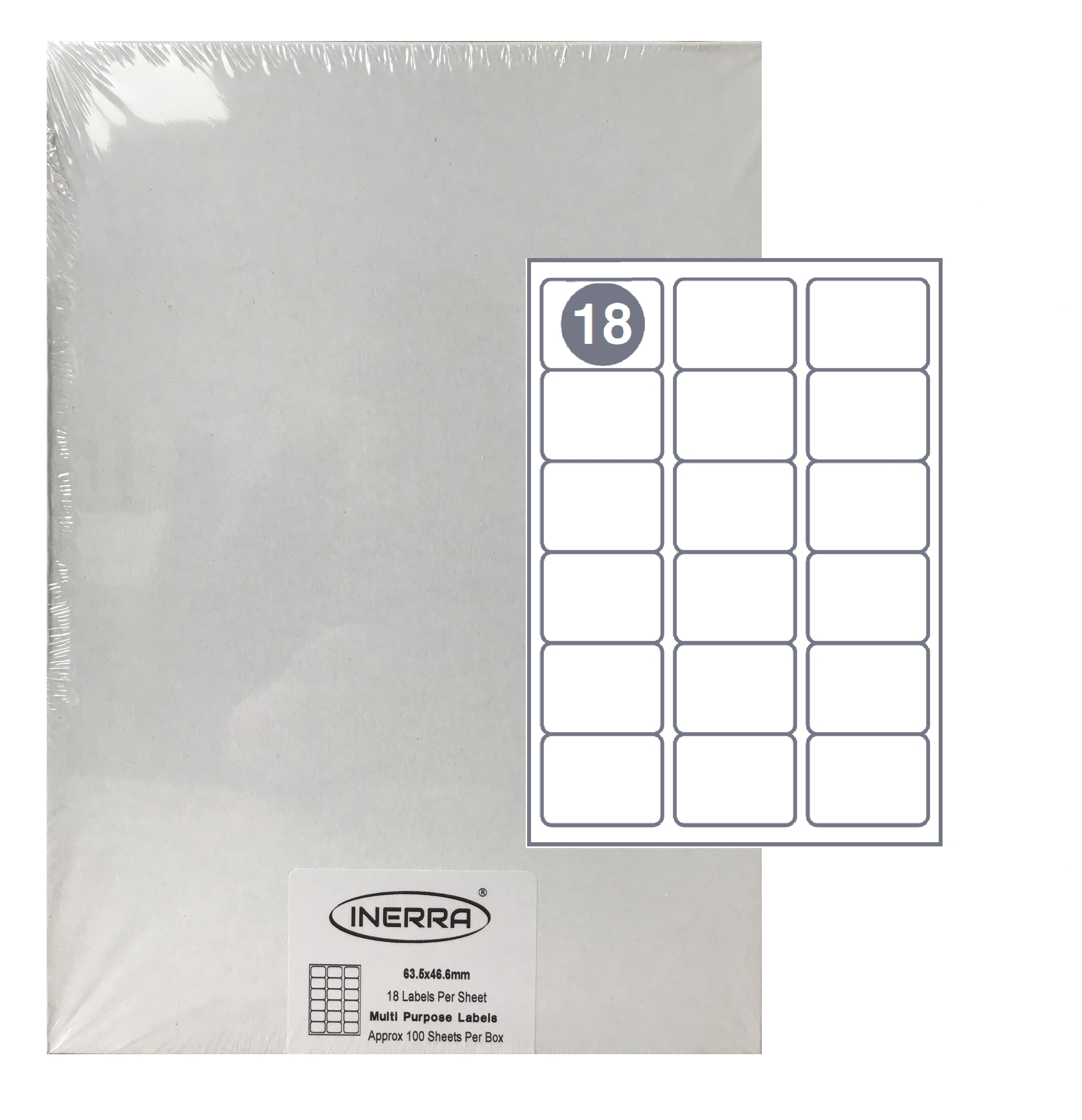Free Template for INERRA Blank Labels - 21 Per Sheet Intended For Word Label Template 12 Per Sheet
