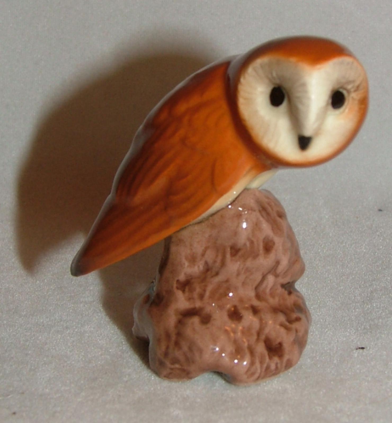 Barn Owl Miniature Ceramic Figurine Bird Model USA Made by Hagen-Renaker