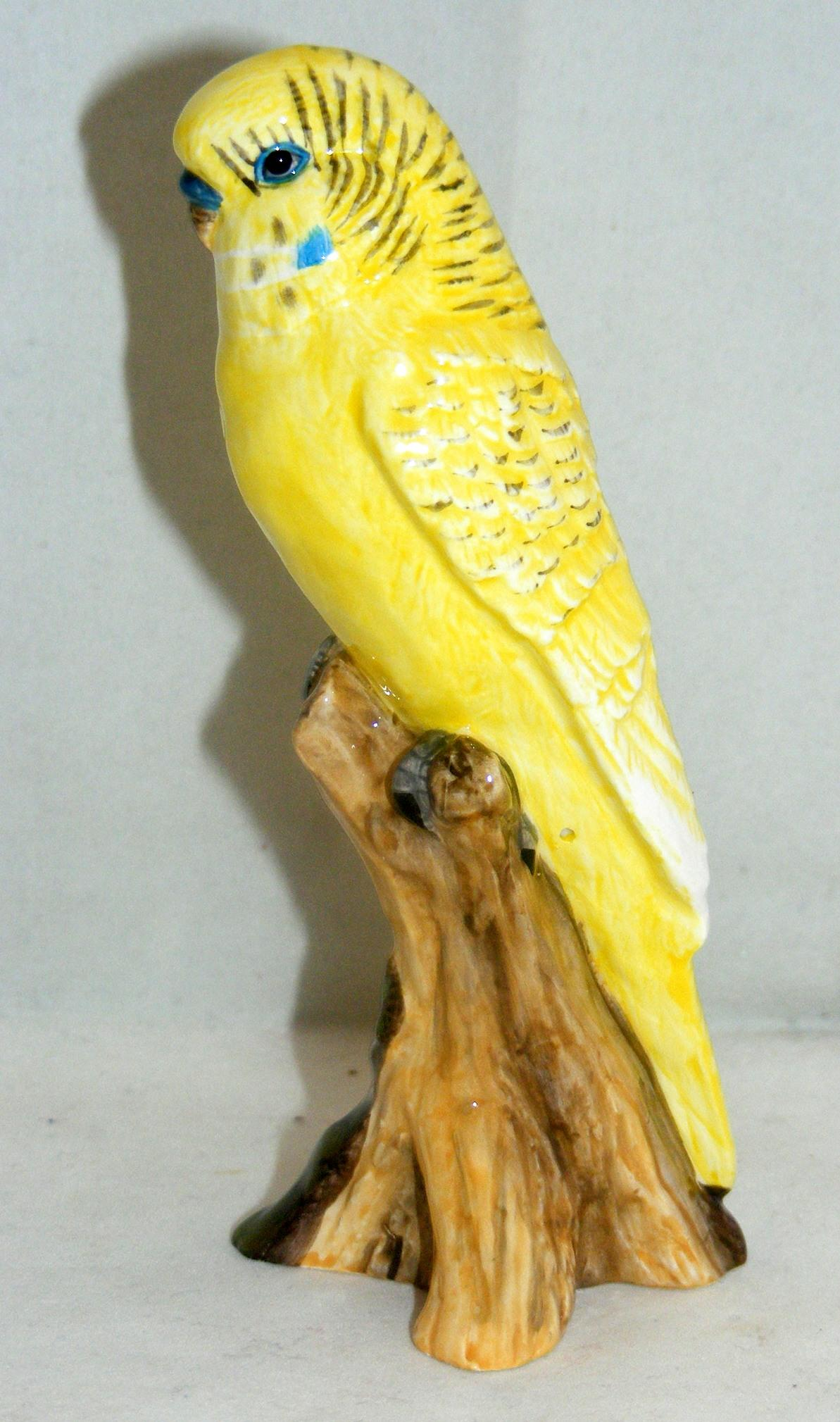 John Beswick Pet Pals Bird Figure Grey Green Yellow