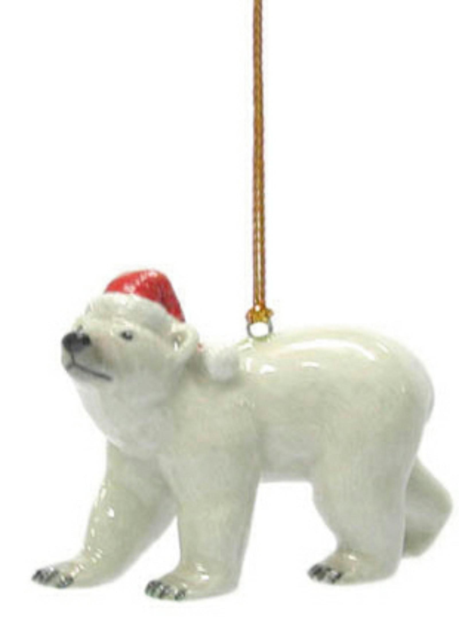 Northern Rose Porcelain Christmas Tree Decoration Panda with Ball R306