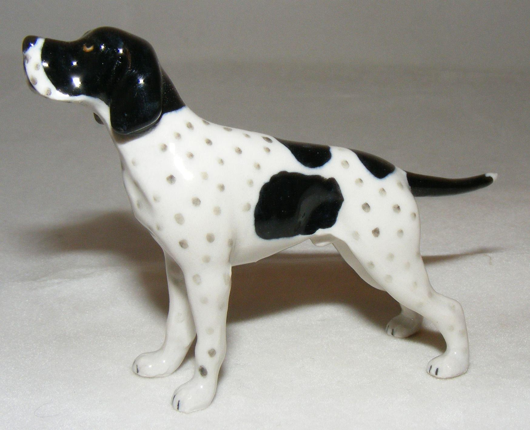 Northern Rose Miniature Porcelain Animal English Pointer