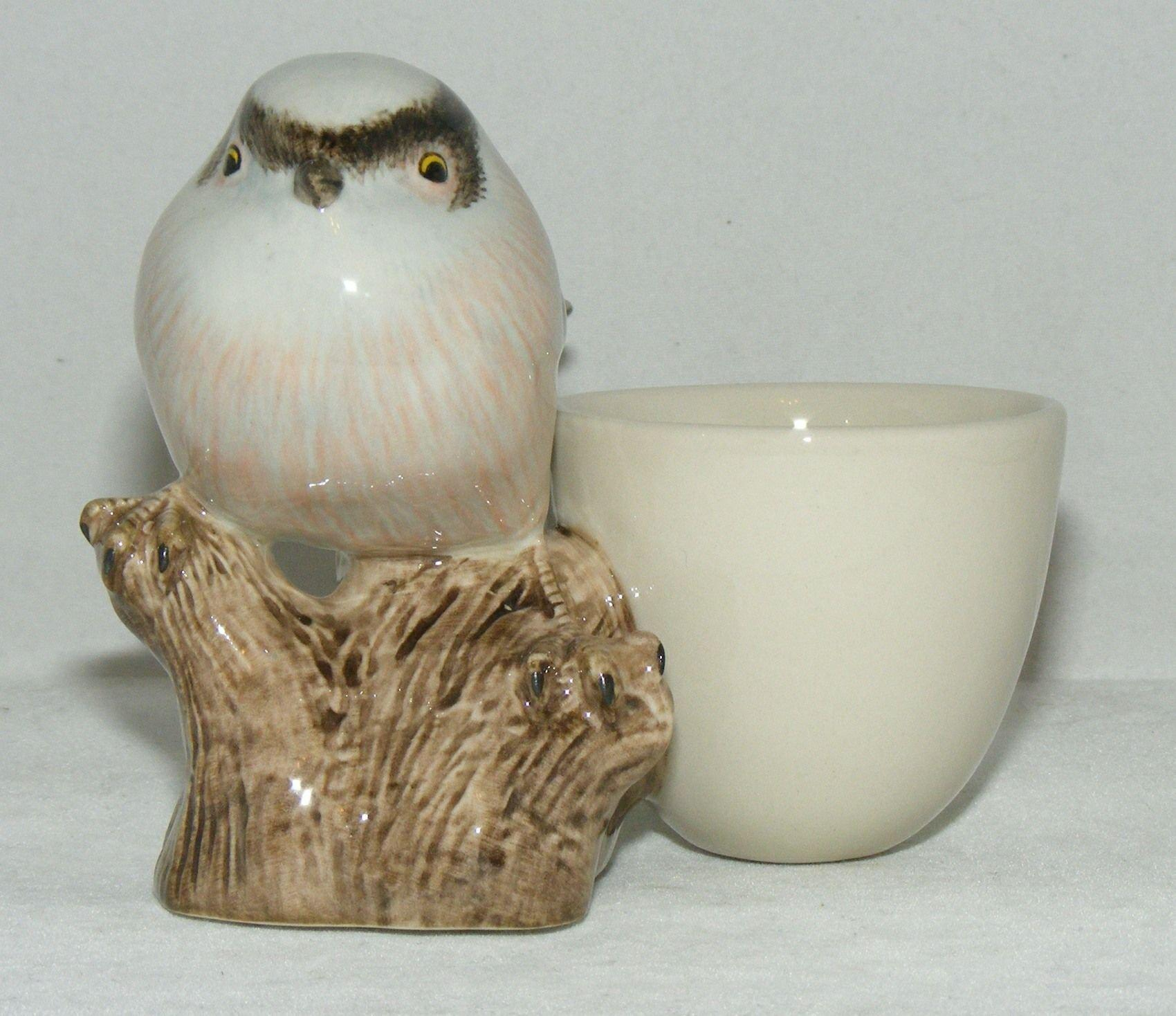 Quail Ceramics Long Tailed Tit with Egg Cup 769