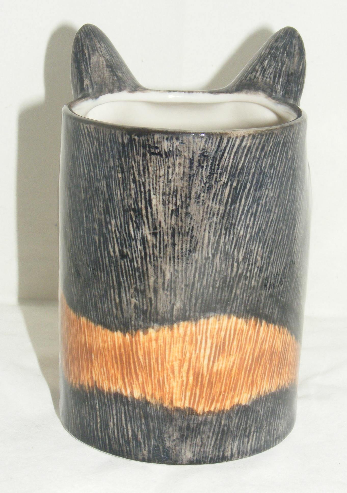 Quail Ceramics Moggy Cat Pencil Pot Quot Poppet Quot 962