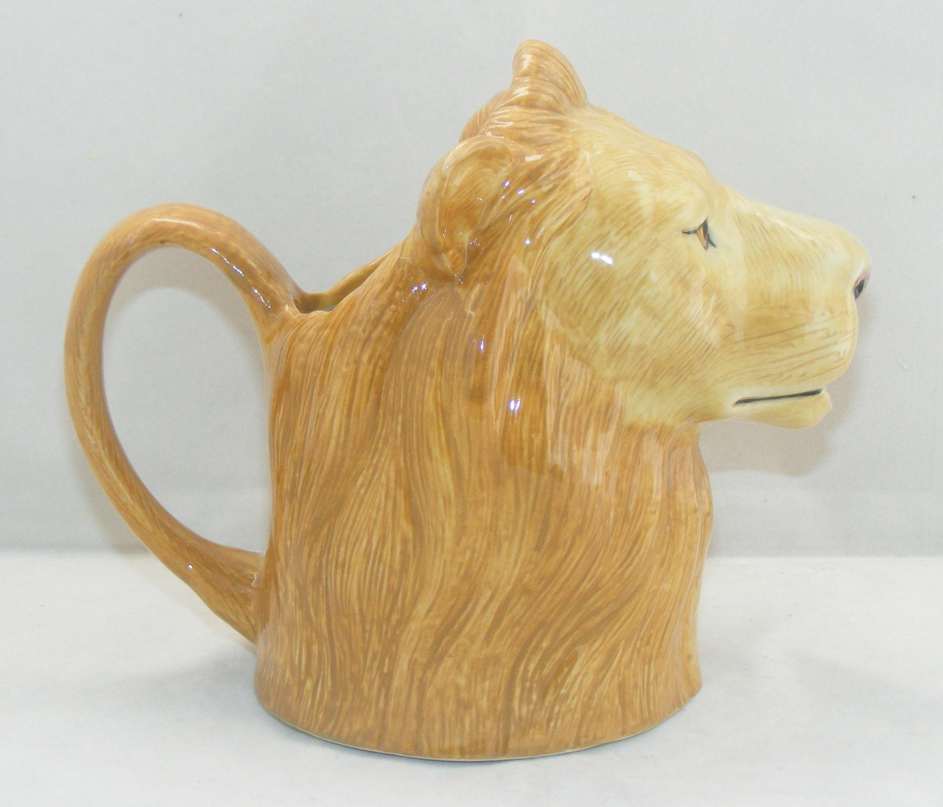 Quail Ceramics Large Lion Jug 627
