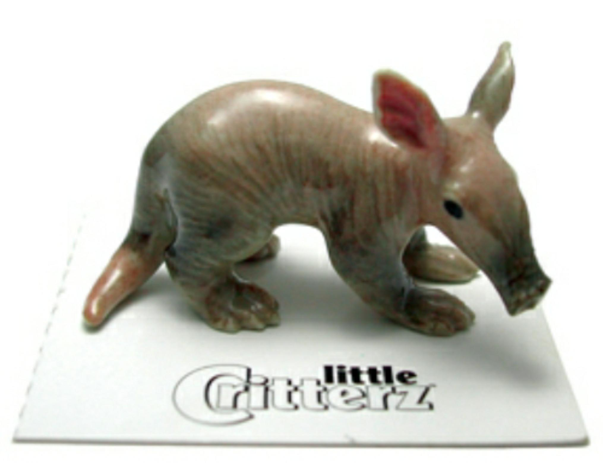 Little Critterz Miniature Porcelain Animal Aardvaark Baby