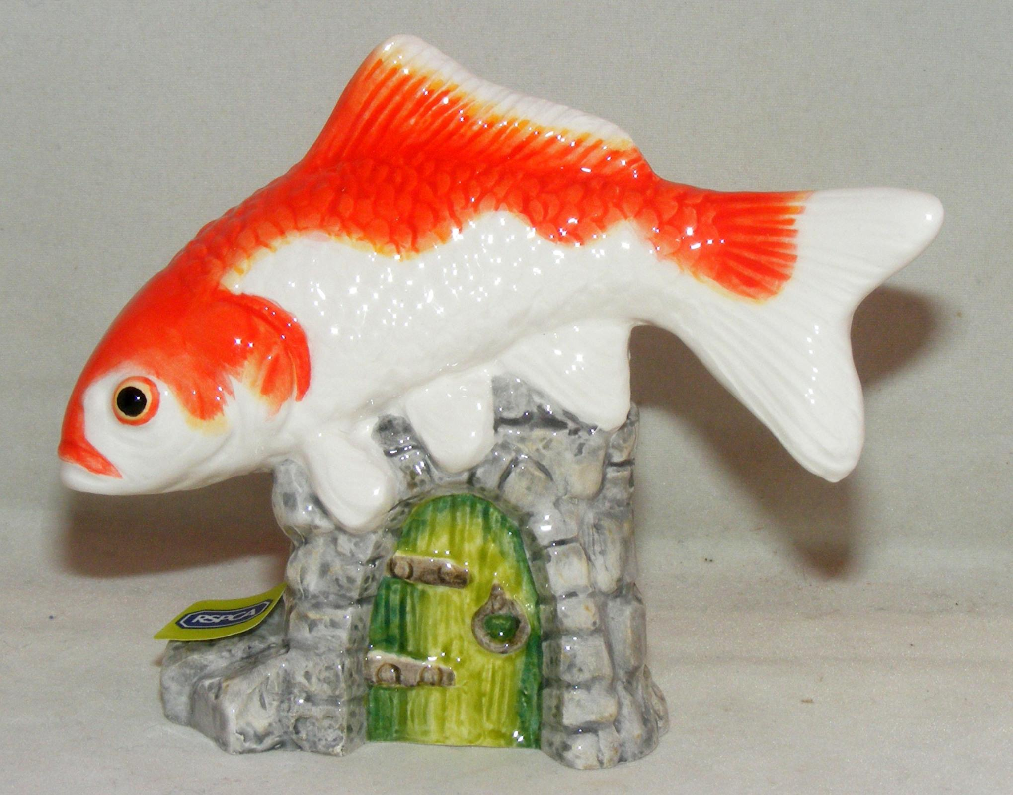 John Beswick Pet Pals Animal Figure Goldfish Orange White