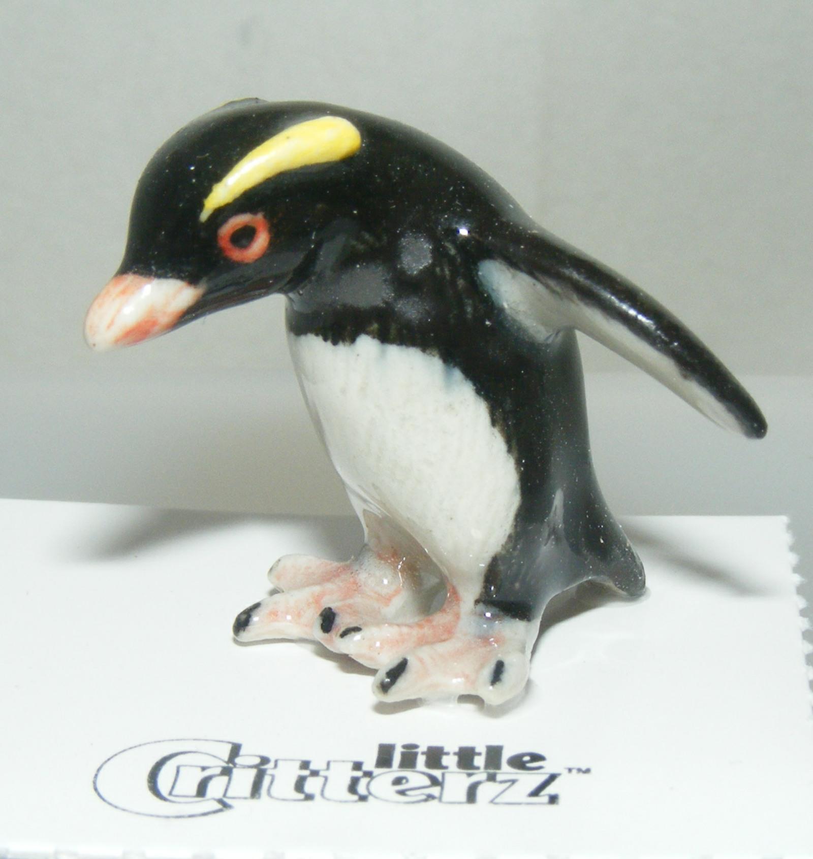 """Little Critterz Miniature Porcelain Bird Rockhopper Penguin /""""Pebbles/"""" LC859"""
