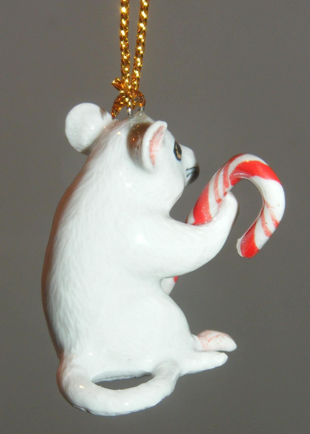 Northern Rose Porcelain Christmas Tree Decoration Mouse ...