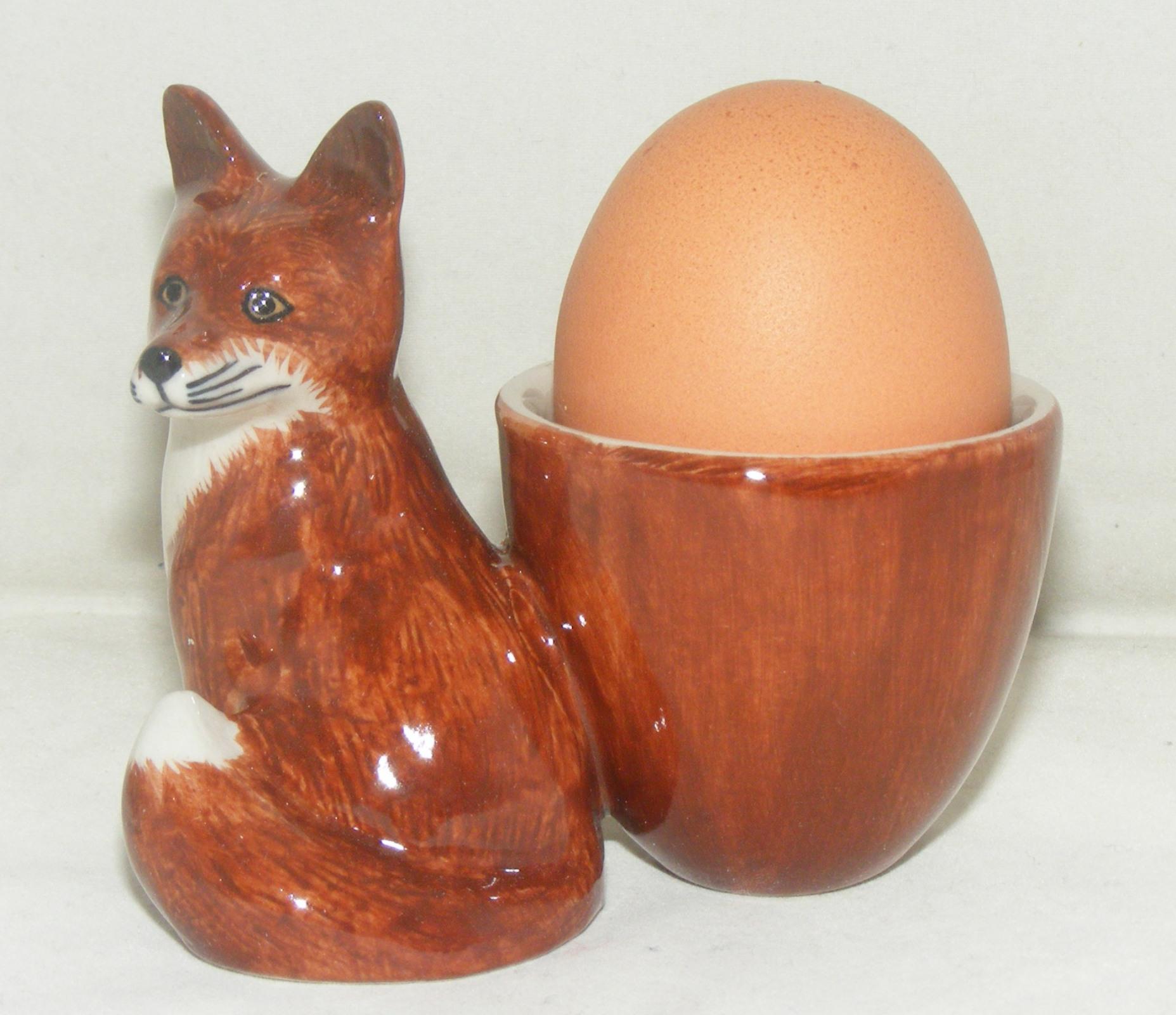 Quail Ceramics Fox with Egg Cup 303