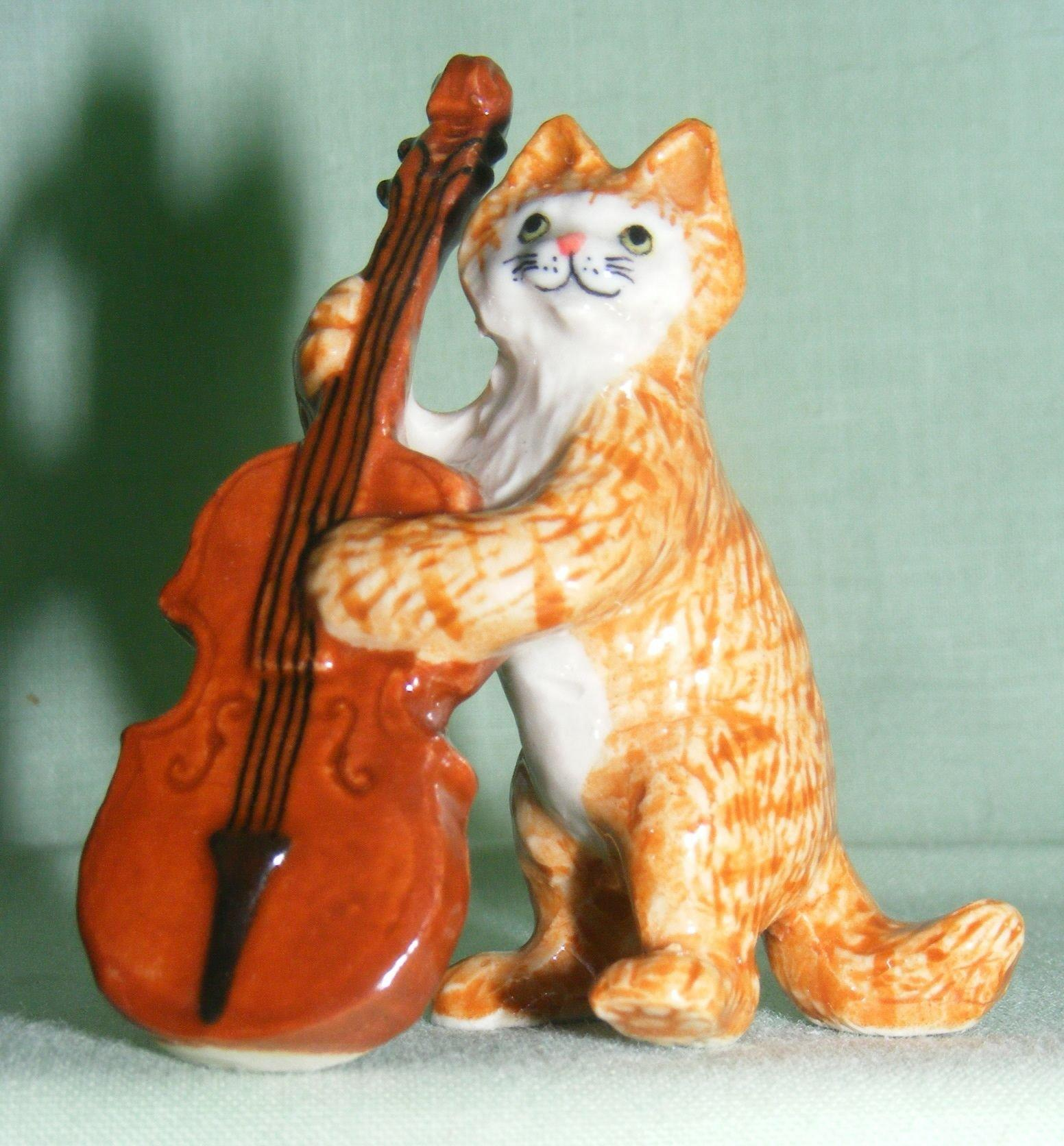 Klima Miniature Porcelain Animal Figure Ginger Cat With