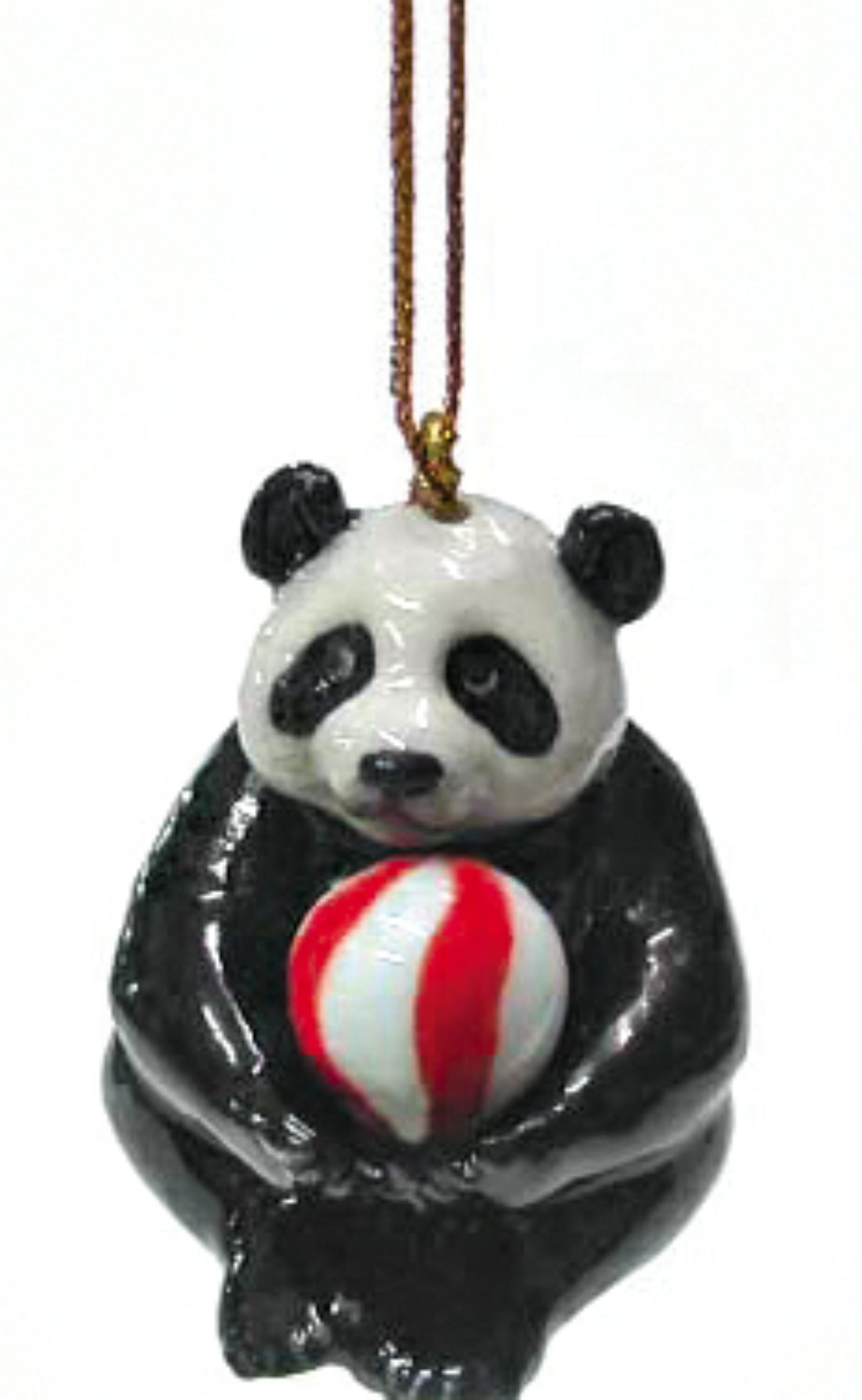 Northern Rose Porcelain Christmas Tree Decoration Panda